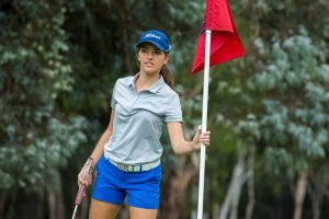 06/02/2018. Ladies European Tour 2018: ActewAGL Canberra Classic, Royal Canberra Golf Club, Canberra, ACT, Australia. February 9-11 2018. Luiza Altmann of Brazil during a practice round. Credit: Tristan Jones
